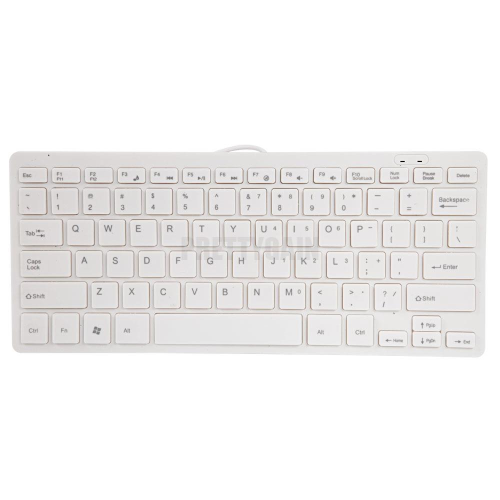 ultra thin wired usb mini pc keyboard for pc apple mac laptop notebooks white us ebay. Black Bedroom Furniture Sets. Home Design Ideas