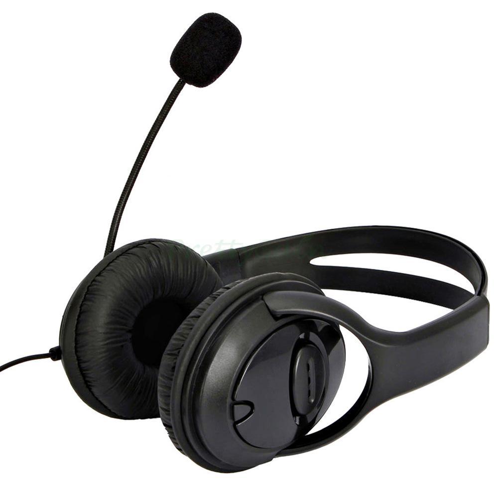 New Big Headset Headphone With MIC For Microsoft Xbox 360